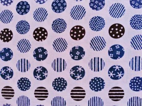 tela de circulos azules