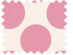 Tela  Tilda topos rosa.