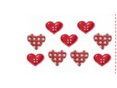 Botones en forma de corazón